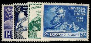 FALKLAND ISLANDS SG168-171, COMPLETE SET, VLH MINT. UPU