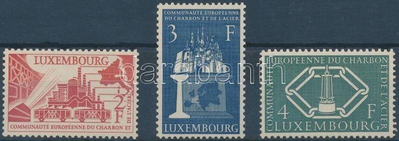 Luxemburg stamp 4th anniversary of Montanuion set MNH 1956 Mi 552-554 WS158840