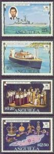 ANGUILLA 271-74 MNH 1977 Silver Jubilee