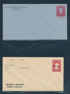 PHILIPPINES #38 & 120a ON POSSESSION ENVELOPES 2 DIFF BU8044