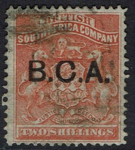 BRITISH CENTRAL AFRICA 1891 ARMS 2/- USED