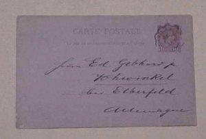 MONACO  POSTAL CARD VINTIMILLE A MARSEILLE 1891