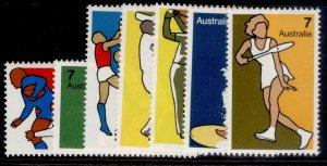 AUSTRALIA QEII SG569-575, 1974 non-olympic sports set, NH MINT.