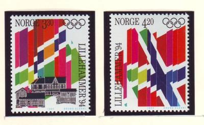 Norway Sc 1029-0 1992 Olympics stamp set mint NH