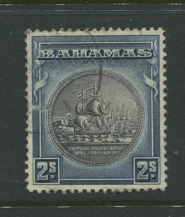 Bahamas - Scott 90 - Seal of Bahamas Issue-1931- VFU -Single 2/- Stamp