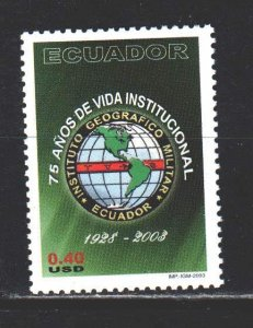 Ecuador. 2003. 2723 from the series. Institute of Geography. MNH.