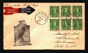 Canada 1937 FFC Finlay Forks to Prince George - Z17516