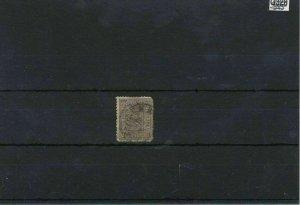 Norway 1867 1 Skilling Black Used Stamp CAT£55 Ref: R7490