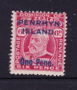 Penrhyn a MH 6d NZ Edward overprinted