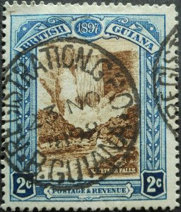 British Guiana 1898 Two Cents with REGISTRATION PO postmark