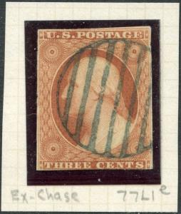 #10 F-VF USED WITH BLUE CANCEL POS77L1e EX-CHASE CV $205.00 BP1367