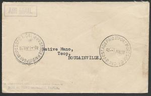 PAPUA NEW GUINEA 1958 4d POSTAGE PAID AT PORT MORESBY  cds.................47599