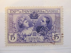 Spanien Espagne Spain 1907 15c Madrid Industrial Exposition fine used A5P3F294