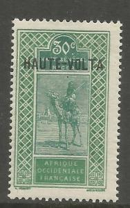BURKINA FASO  19  MINT HINGED,  STAMP TYPES OF UPPER SENEGAL OVPT IN RED