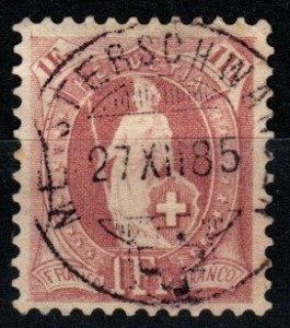 Switzerland #87 F-VF  Used CV $16.00 (X1420)