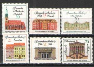 Germany - GDR/DDR 1971 Sc# 1287-1292 MNH F - great set