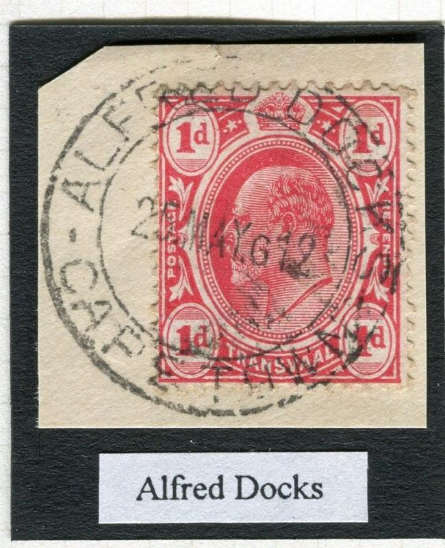 TRANSVAAL Interprovincial Period Ed VII CAPE TOWN Alfred Docks Postmark