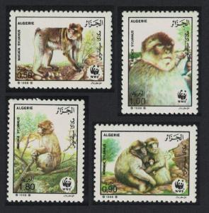 Algeria WWF Barbary Macaque 4v SG#989-992 SC#872-875 MI#972-975