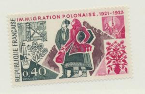 France Scott #1358, Mint Never Hinged MNH, Polish Immigration Issue From 1973...