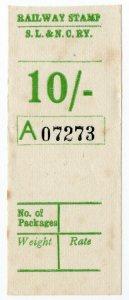 (I.B) Sligo Leitrim & Northern Counties Railway : Parcel Stamp 10/-