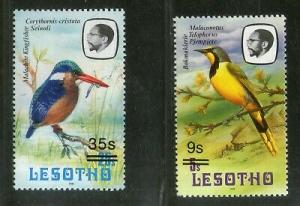 Lesotho 1987 Kingfisher Bokmakierie Birds Wildlife Animal Sc 598A MNH # 3089