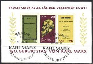 GDR. 1968. bl27. Karl Marx, Capital. USED.