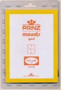 Prinz Scott Stamp Mount 111/91 BLACK Background Pack of 6