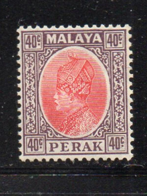 Malaya Perak Sc 79 1935 40c Sultan Iskandar stamp mint