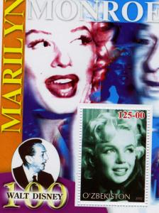 Uzbekistan 2002 MARILYN MONROE s/s Perforated Mint (NH)