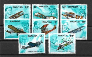 Rwanda MNH 885-92 History Of Aviation SCV 4.75
