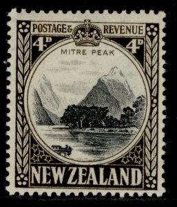 NEW ZEALAND GVI SG583c, 4d black & sepia, M MINT. Cat £65.