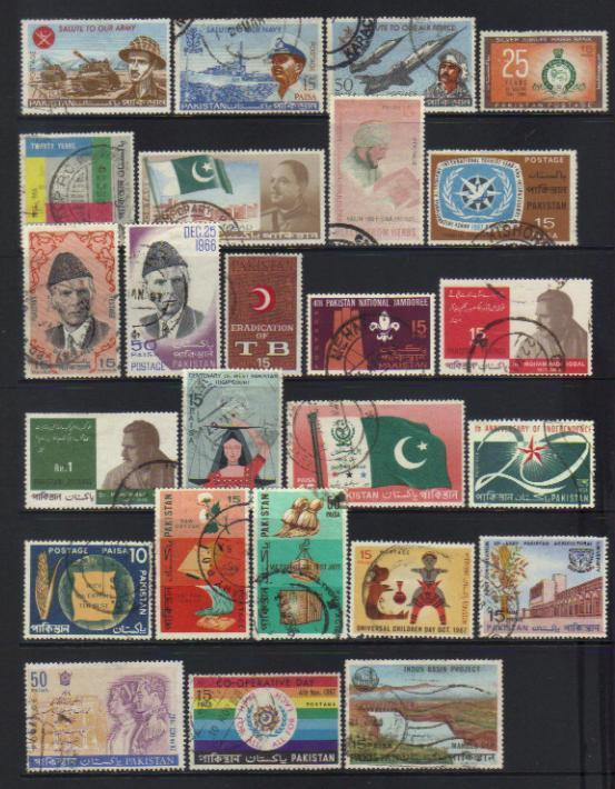 PAKISTAN 1965-1967 USED SELECTION
