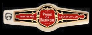 PRIDE OF BALTIMORE CIGARS, OLD CIGAR BAND UNUSED, TOBACCO CINDERELLA SEE SCAN