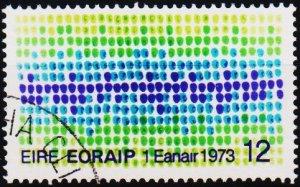 Ireland. 1973 12p S.G.326 Fine Used