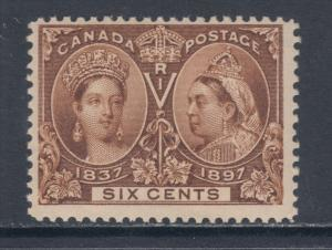 Canada Sc 55 MNH. 1897 6c yellow brown QV Jubilee F-VF