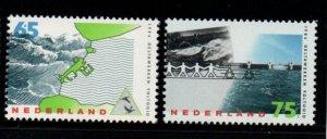 Netherlands Sc 708-09 1986 Delta Project Completion stamp set mint NH