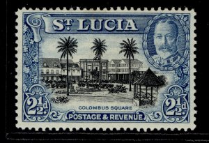 ST. LUCIA GVI SG117, 2½d black and blue, LH MINT.