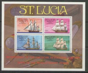 ST.LUCIA SGMS414 1976 BICENTENARY OF AMERICAN REVOLUTION MNH