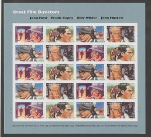 U.S. Scott #4668-4671 Film Directors Stamps - LR Plate Position - Mint NH Sheet