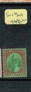 MALAYA  PERAK  (P1305BB)  SULTAN  $5.00  SG 121   MOG