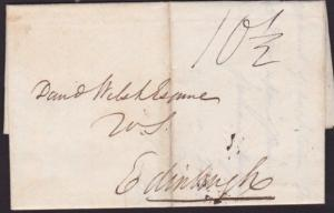 GB SCOTLAND 1830 folded entire WIGTOWN to Edinburgh........................6436