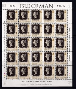 Isle of Man 1990,GB 1p  MNH S/Sheet of 25  # 423