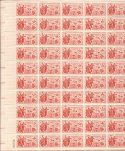 US Stamp - 1959 Hawaii Statehood - 50 Stamp Sheet - Scott #C55