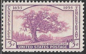 US 772 MNH -  Connecticut Tercentenary - The Charter Oak by C.D. Brownell