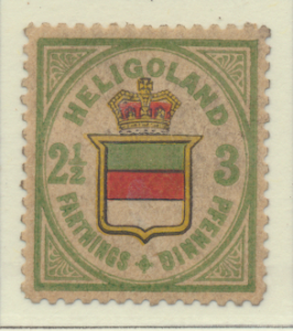 Heligoland Stamp Scott #20, Mint Heavily Hinged, Some Gum, Paper Remnants - F...