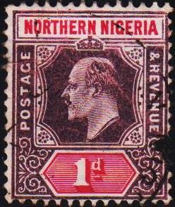 Nigeria(Northern). 1902 1d S.G.11  Fine Used