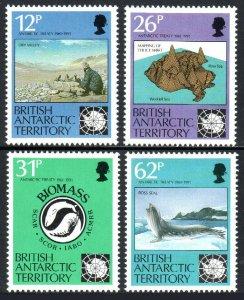 British Antarctic Territory 180-183, MNH. Antarctic Treaty, 30th anniv. 1991