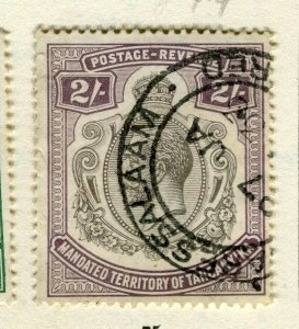 TANGANYIKA; 1927 early GV issue fine used 2s. value