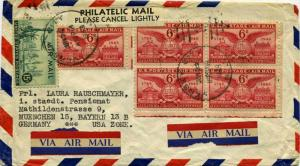 Airmail Issues 6c Alexandria Virginia (5) and 15c Plane Over Statue of Liber...