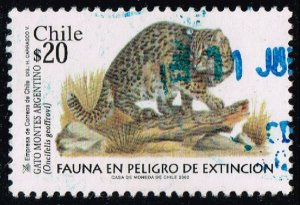 Chile #1395 Geoffroy's Cat; Used (3Stars)